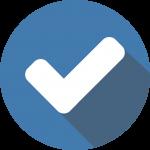 Blue tick icon