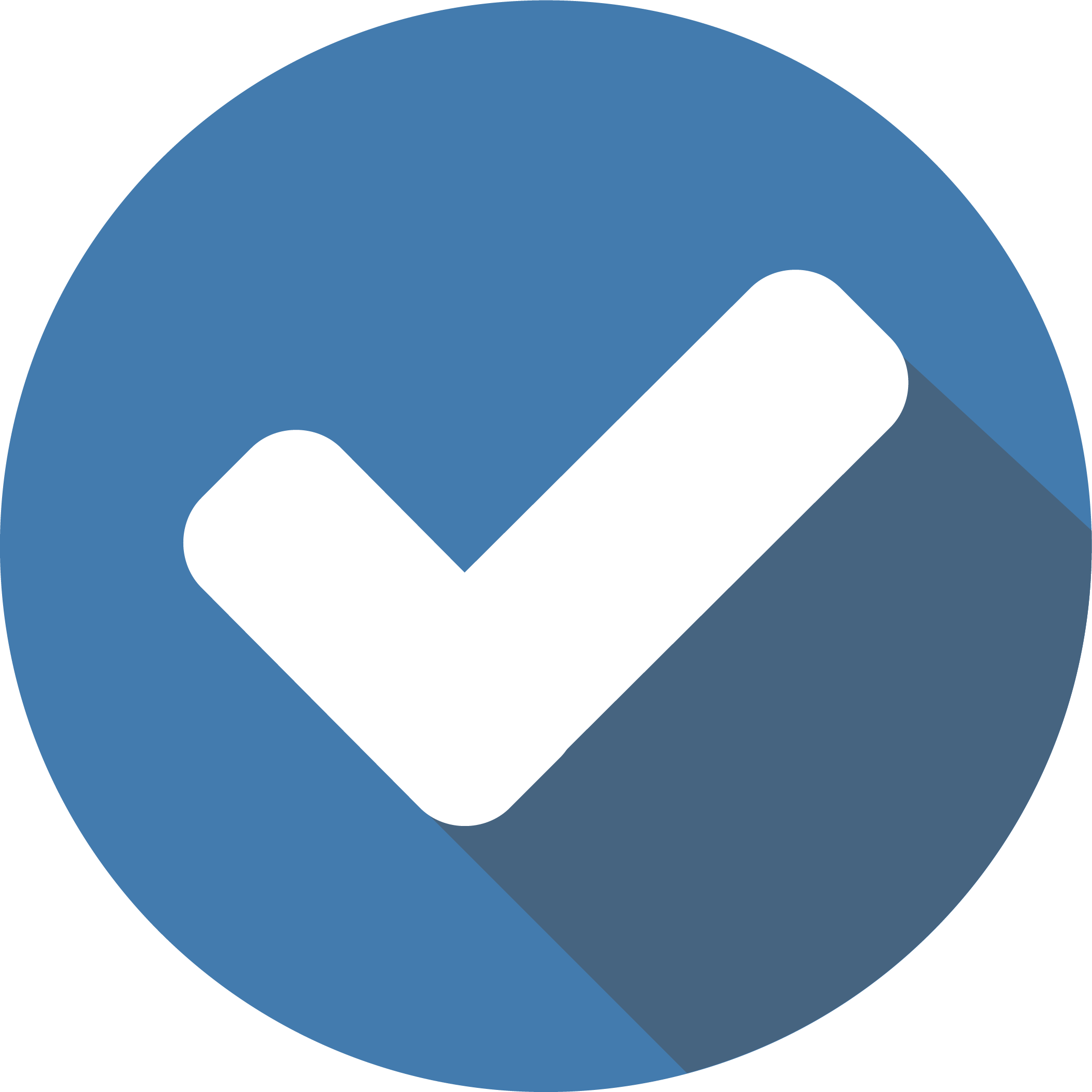 Blue tick icon
