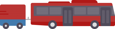 Bus with trailer icon