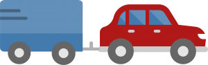 Car and trailer icon